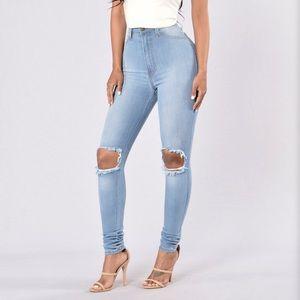 Fashion nova: tough luck jeans